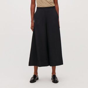 COS Wide Leg Cropped Palazzo Flat Front Side Zip